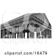 Ancient Building With Roman Columns Clipart Illustration Graphic