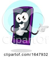 Cell Phone Mascot Character Pointing Or Dancing