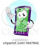Cell Phone Mascot Character Checking Email