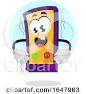 Cell Phone Mascot Character Vibrating