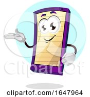 Cell Phone Mascot Character With A Note Screen