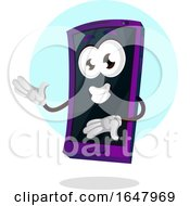 Cell Phone Mascot Character Presenting