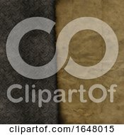 Grunge Paper On A Metallic Texture Background