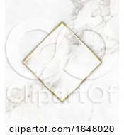 Gold And Marble Frame On A Marble Texture Background