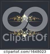 Decorative Background With Gold Ornamental Details