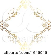 Diamond Shaped Ornate Golden Frame