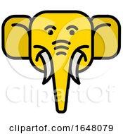 Yellow Elephant Face Icon