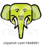 Green Elephant Face Icon