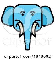 Blue Elephant Face Icon