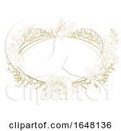 Poster, Art Print Of Floral Frame Border