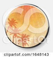 3D Abstract Summer Print On Crumbled Material Border
