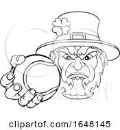 Poster, Art Print Of Leprechaun Holding Tennis Ball Sports Mascot