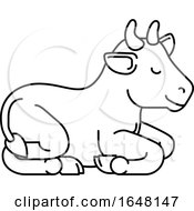 Poster, Art Print Of Cow Animal Cartoon Character