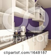 Poster, Art Print Of Render Of 3d Contemporary Kitchen