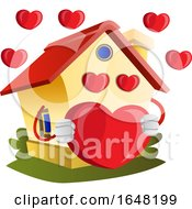 Home Mascot Character In Love