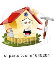 Home Mascot Character Holding A Hammer