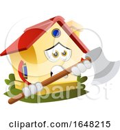Home Mascot Character Holding An Axe by Morphart Creations