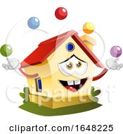 Home Mascot Character Juggling
