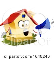 Home Mascot Character Using A Megaphone