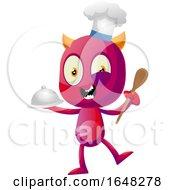 Chef Devil Mascot Character