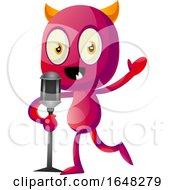 Devil Mascot Character Speaking