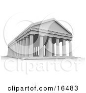 Ancient Greek Temple Roman Columns Clipart Illustration Graphic
