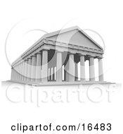 Ancient Greek Temple Roman Columns