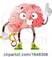 Brain Character Mascot Holding A Sling Shot by Morphart Creations
