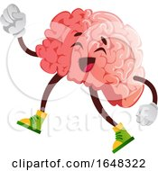 Walking Brain Character Mascot