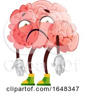 Depressed Brain Character Mascot