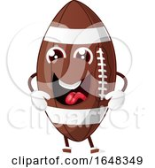 Cartoon Laughing American Football Mascot Character by Morphart Creations