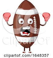 Cartoon American Football Mascot Character Wearing Boxing Gloves by Morphart Creations