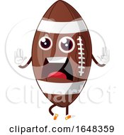 Cartoon Scared American Football Mascot Character by Morphart Creations
