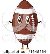 Cartoon Shrugging American Football Mascot Character