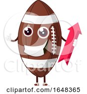 Cartoon American Football Mascot Character Holding An Arrow by Morphart Creations