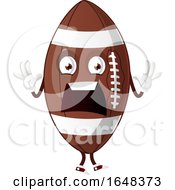 Cartoon Screaming American Football Mascot Character by Morphart Creations