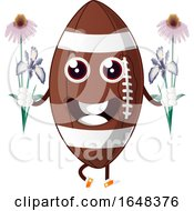 Cartoon American Football Mascot Character Holding Flowers by Morphart Creations