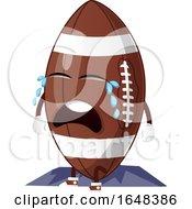 Cartoon American Football Mascot Character Crying by Morphart Creations