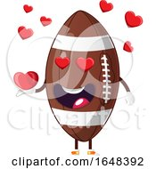 Cartoon American Football Mascot Character In Love by Morphart Creations