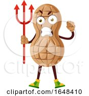 Cartoon Peanut Mascot Character Holding A Trident by Morphart Creations