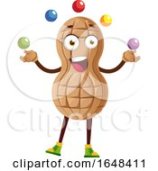 Cartoon Peanut Mascot Character Juggling by Morphart Creations