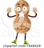 Cartoon Mad Peanut Mascot Character by Morphart Creations