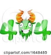 Cartoon Green Monster Mascot Character In An Error Code by Morphart Creations