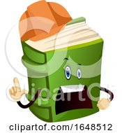 Green Construction Worker Book Mascot Character by Morphart Creations