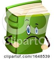 Sad Green Book Mascot Character