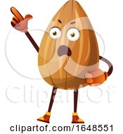 Almond Mascot Character Pointing And Looking Upset