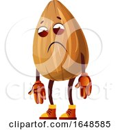 Depressed Or Tired Almond Mascot Character