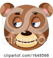 Bear Is Feeling Relief Illustration Vector On White Background