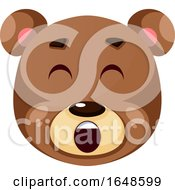 Bear Is Yelling Illustration Vector On White Background by Morphart Creations