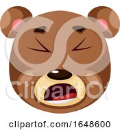 Bear Is Feeling Fed Up  Illustration Vector On White Background by Morphart Creations